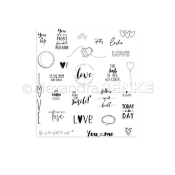ALEXANDRA RENKE -Clear Stamp Set 'Love'