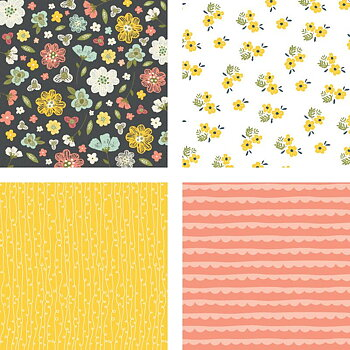 HONEY BEE -6x6 Paper Pad  24 Double Sided Sheets-Spring Fling