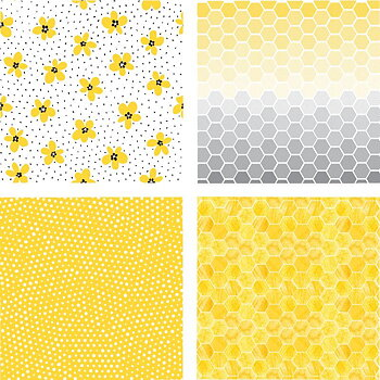 HONEY BEE -6x6 Paper Pad  24 Double Sided Sheets-The Bee's Knees