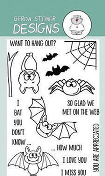 GERDA STEINER DESIGNS-Bats  Clear Stamp  & Die Set