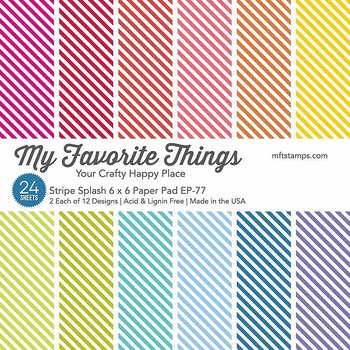 My Favorite Things -Stripe Splash Paper Pad