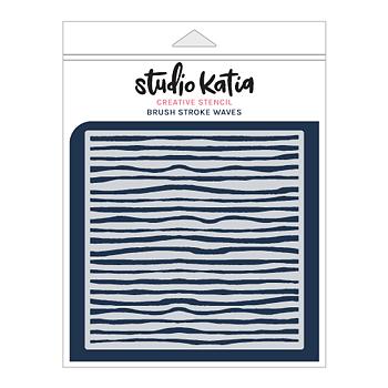 STUDIO KATIA-BRUSH STROKE WAVES STENCIL