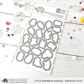 MAMA ELEPHANT-LITTLE SNOWMAN AGENDA-CREATIVE CUTS