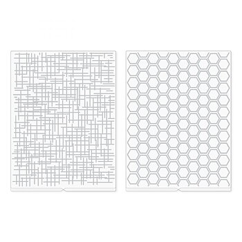 We R Memory Keepers Woven and Honeycomb Revolution Embossing Folder