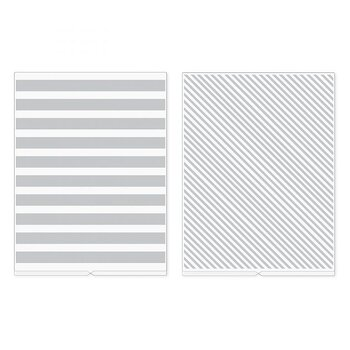 We R Memory Keepers Stripes Revolution Embossing Folder