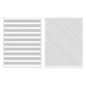 We R Memory Keepers Stripes Revolution Embossing Folder