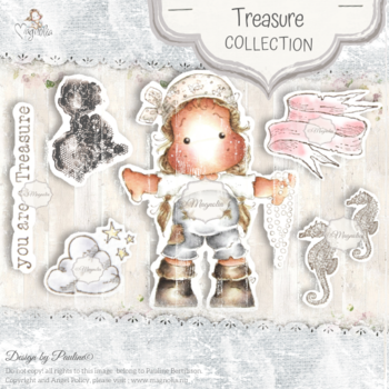 MAGNOLIA OUT-20 Treasure Art Stamp Sheet