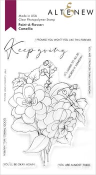 ALTENEW -Paint-A-Flower: Camellia Outline Stamp Set