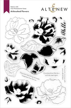 ALTENEW -Airbrushed Flowers Stamp Set