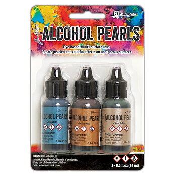 RANGER -Tim Holtz Alcohol Ink Pearls Kits 3/Pkg - Kit 4
