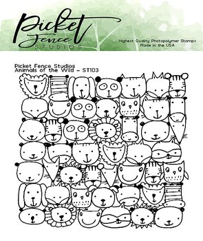PICKET FENCE STUDIOS -Animals of the Wild Clear Stamps