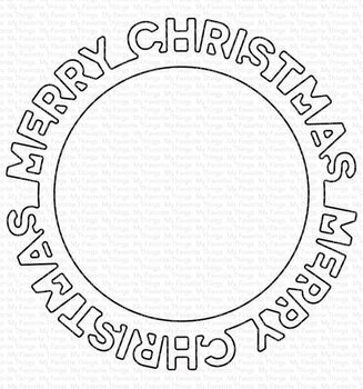 MY FAVORITE THINGS -Merry Christmas Circle Frame Die-namics