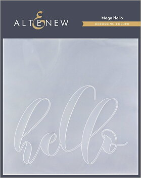 ALTENEW -Mega Hello  Debossing Folder