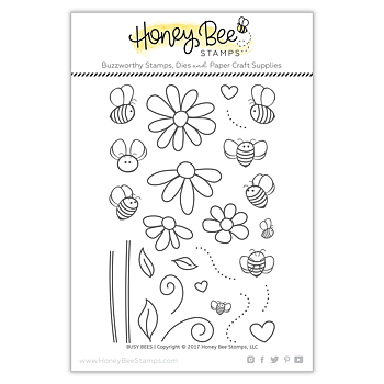 HONEY BEE STAMPS  - Busy Bees stamp  Set
