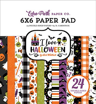 ECHO PARK PAPER- I Love Halloween 6x6 Inch Paper Pad