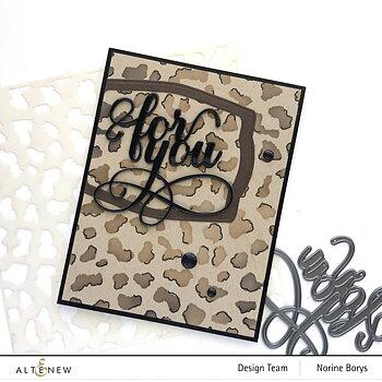 ALTENEW -Wild Leopard Stencil