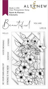 ALTENEW -Paint-A-Flower: Clematis Outline Stamp Set