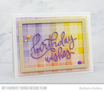 MY FAVORITE THINGS -Birthday Wishes Die-Namics