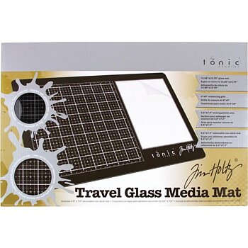 Tonic Studios -Tim Holtz Travel Glass Media Mat: Right Handed