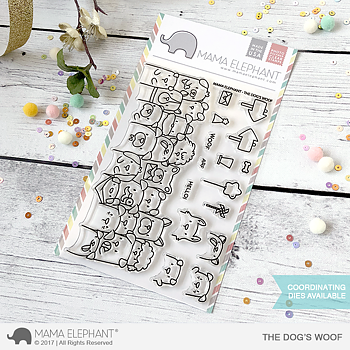MAMA ELEPHANT -THE DOG'S WOOF - CLEARSTAMPSET