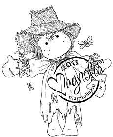 MAGNOLIA SR11 Scarecrow Tilda UNMOUNTED