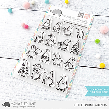 MAMA ELEPHANT-LITTLE GNOME AGENDA STAMP & DIE SET