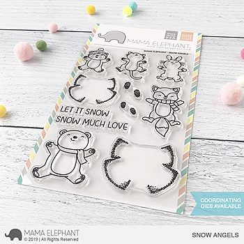 MAMA ELEPHANT-SNOW ANGELS STAMP & DIE SET