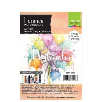 Florence • Watercolor paper smooth Ivory 200g A5 24pcs