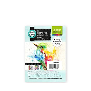 Florence • Watercolor paper smooth White 300g A6 20pcs