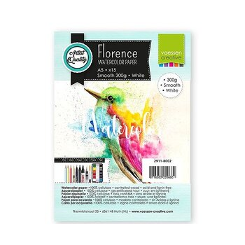 Florence • Watercolor paper smooth White 300g A5 15pcs