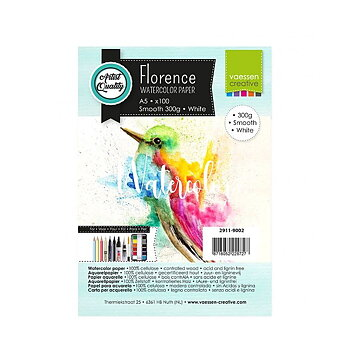 Florence • Watercolor paper smooth White 300g A5 100pcs