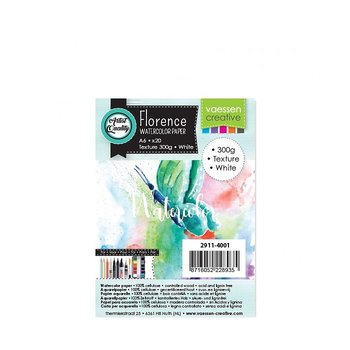 Florence • Watercolor paper texture White 300g A6 20pcs