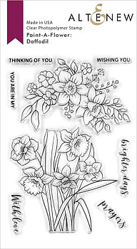 ALTENEW -Paint-A-Flower: Daffodil Outline Stamp Set