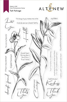 ALTENEW -Tall Foliage Stamp Set