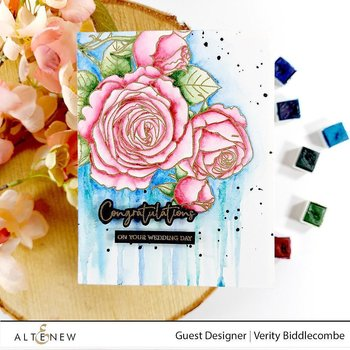 ALTENEW -Fresh Cut Roses Stamp Set