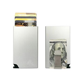 Korthållare Safecard Silver med  sedelklämma