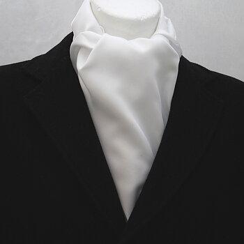 Halsduk Vit blank