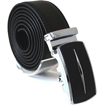 Läderbälte stripe svart 996