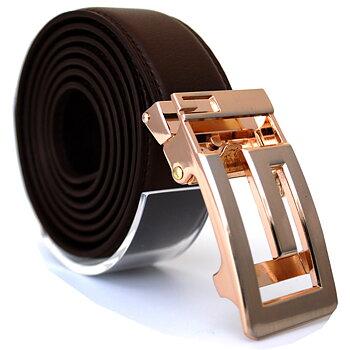 Läderbälte stripe brun 981B