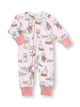 PYJAMAS MED ZIP POLAR FOX