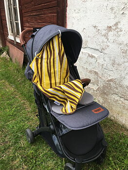 Barnvagnsdraperi muslintyg Tiger