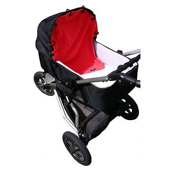 Barnvagnsdraperi bomullsjersey Röd