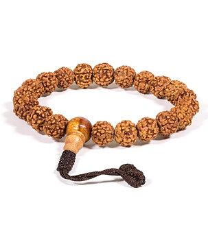Buddhist Stretchy Mala BRACELET - Rudraksha