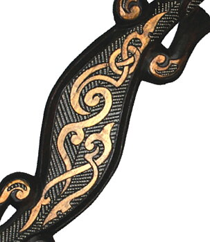 Hand Carved Wooden Lizard Gecko - Tribal 100cm