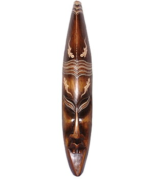 Hand Carved Wooden Mask - Lizard 100cm