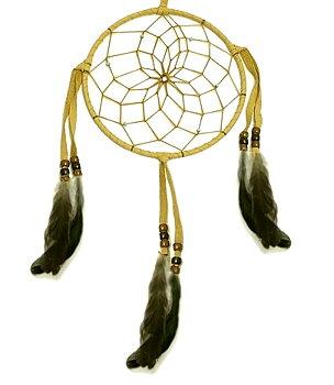 Authentic Native American Dream Catcher - Light Tan, 15cm