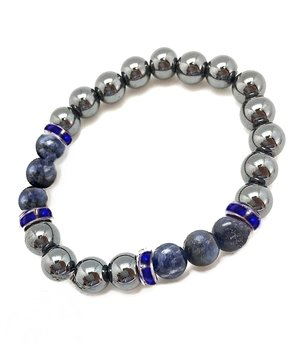 Gemstone Power Bracelet - Hematite n' Sodalite