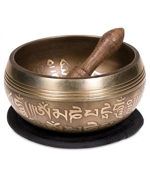 Tibetan Singing Bowl in Gift Box - AUM, 10cm