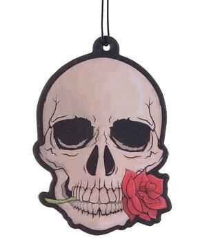 Car / Home Air Freshener - Gothic Skull, Rose