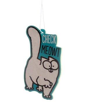 Car / Home Air Freshener - Simon's Cat Check Meowt, Vanilla